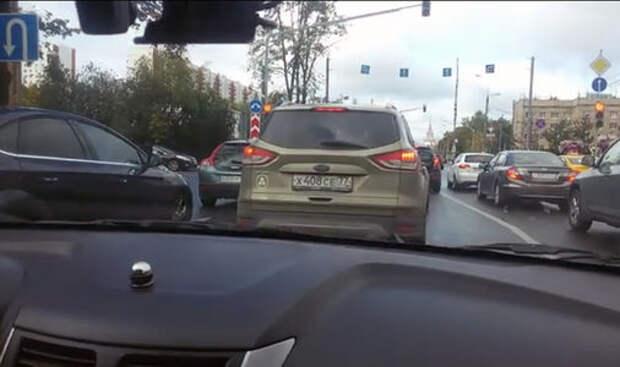 Видео с курсантом автошколы: за рулем «многодетный отец»