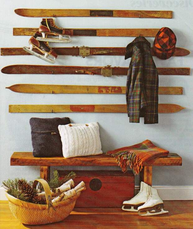 Лыжи в интерьере