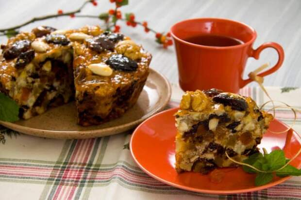Десерт из орехов и сухофруктов