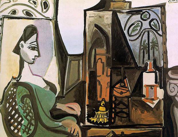 Пабло Пикассо | картина Жаклин в студии 1956 | iPicasso.ru