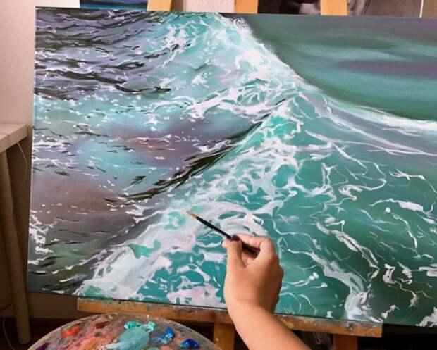 Питерская красавица Анастасия Морская пишет удивительные картины