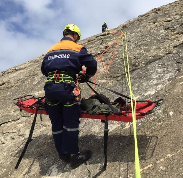 МЧС РК: Специалисты ГКУ РК «КРЫМ-СПАС» провели тренировочное занятие по горной подготовке
