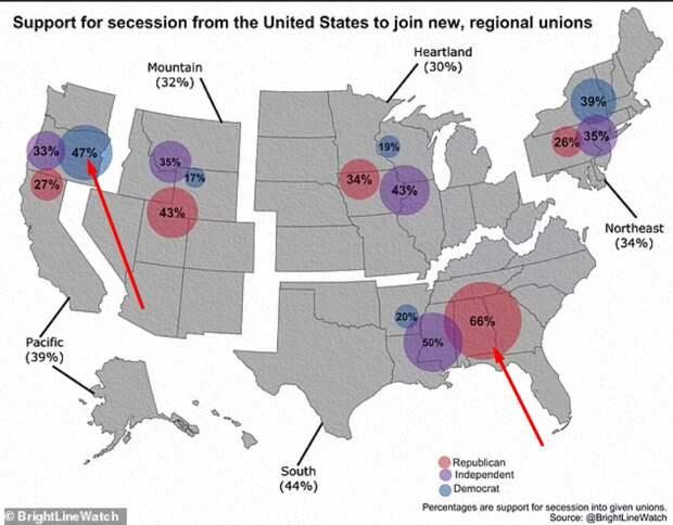Распада США захотели уже и сами американцы. Что будет дальше со Штатами, если они распадутся?