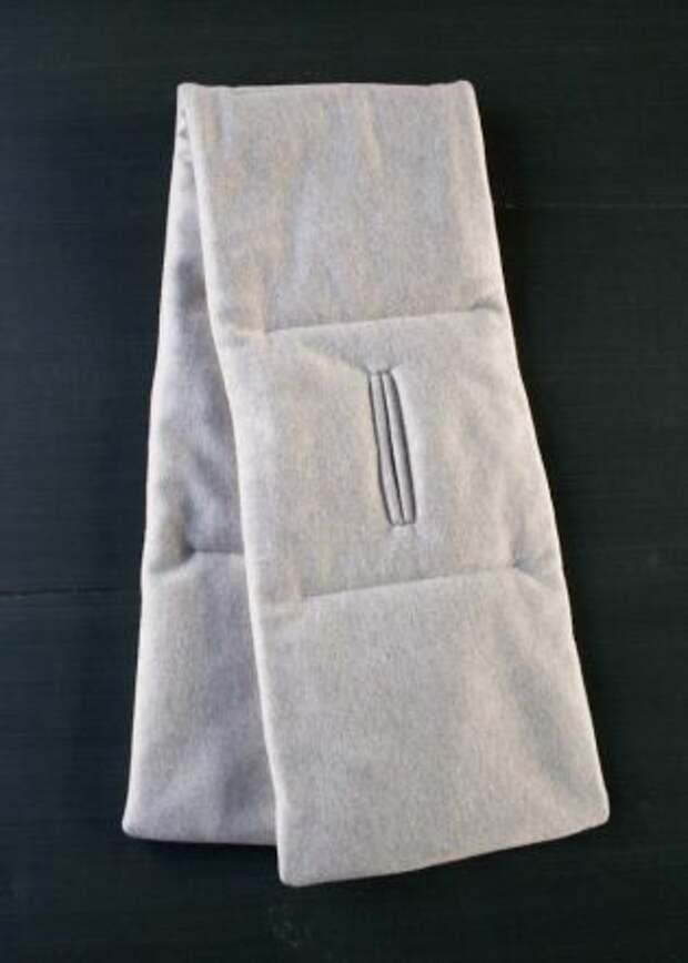 Стёганый шарф с прорезью DIY
