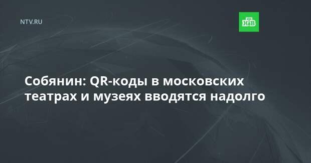 Собянин: QR-коды в московских театрах и музеях вводятся надолго