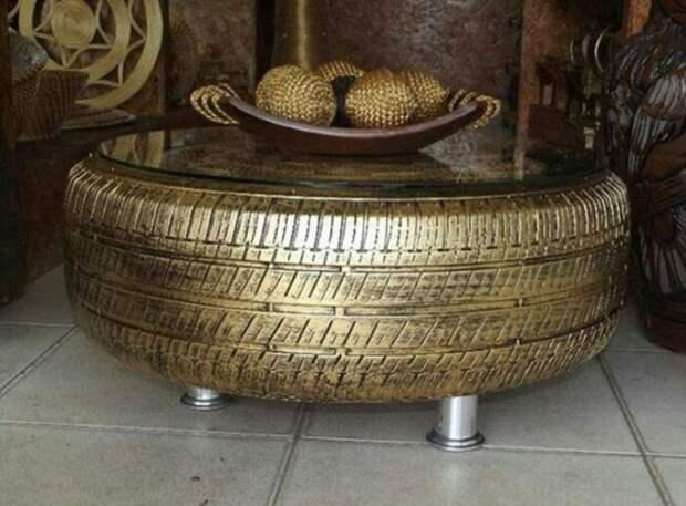 Из обычной старой шины может получиться довольно креативная мебель. /Фото: holoulzakia.com