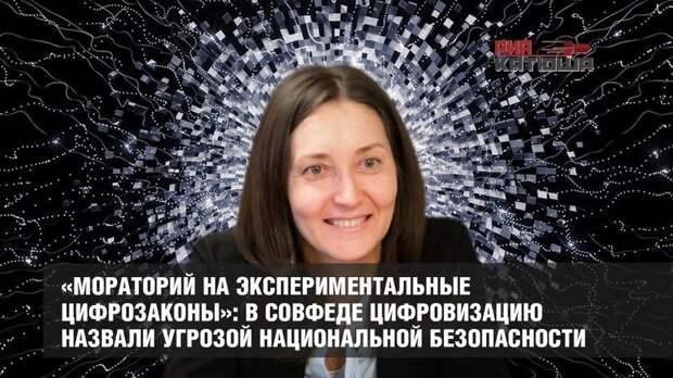 «Мораторий на экспериментальные цифрозаконы»: в СовФеде цифровизацию назвали угрозой национальной безопасности