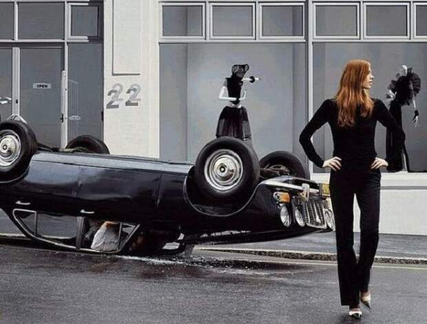 Девушки и машины прошлого века (20 фото)