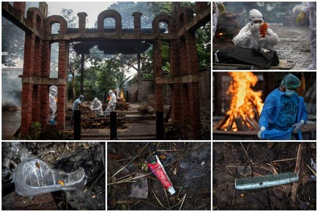 Шарф и гребень показывают изменения в индуистских обрядахкремации