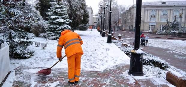 Сегодня в Керчи выпал   первый снег
