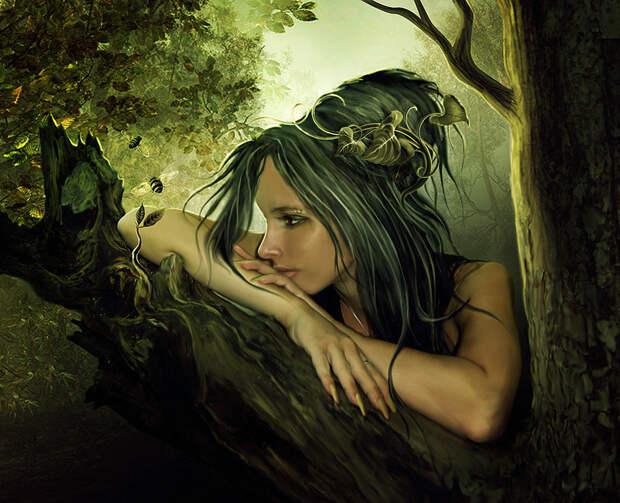 Красивые рисунки в стиле фэнтези Елены Дудиной