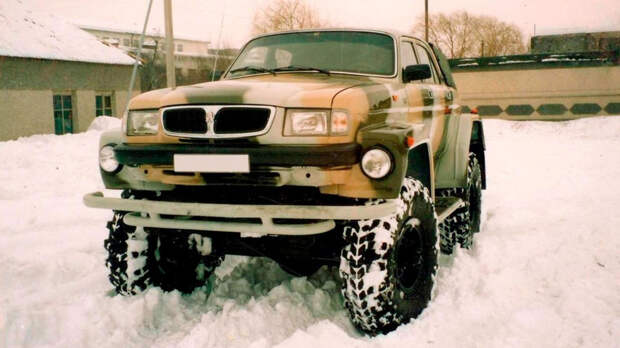 Мелкосерийный внедорожник LAF 4101 из Казахстана, слепленный из ГАЗ-66, ГАЗ-3307 и «Волги»