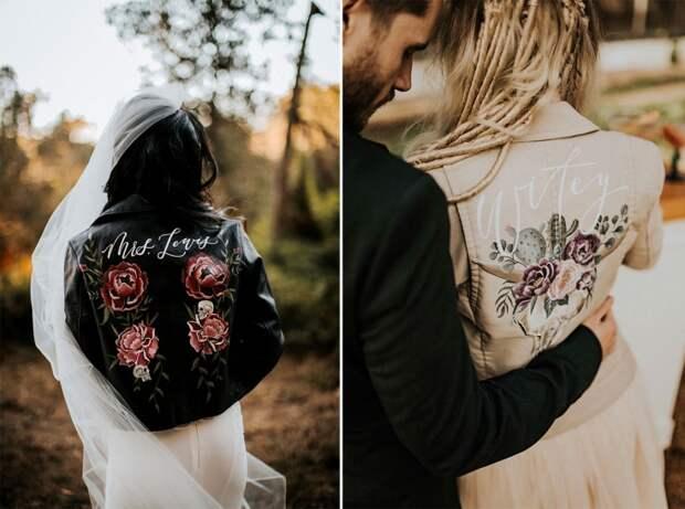 свадебная косуха со свадебным платьем