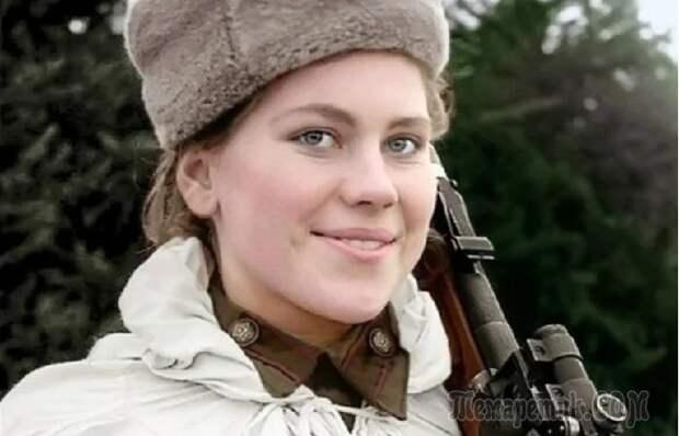 Первая в истории женщина снайпер