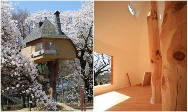 Минималистский интерьер компенсируется колоритным внешним видом и месторасположением («Tetsu», Япония).   Фото: cacadoresdelendas.com.br.