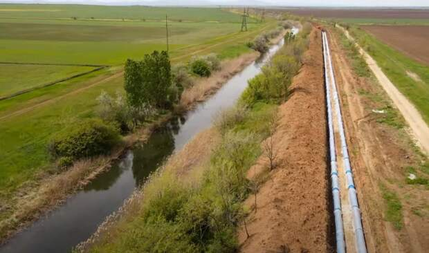 Показан дублер Северо-Крымского канала, решающий водный вопрос полуострова на 100%