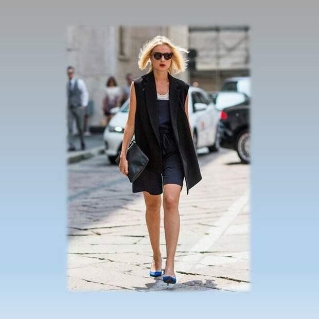 Как носить длинные жилеты этим летом