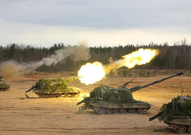 Артиллеристы общевойсковой армии ЗВО провели учение по уничтожению противника прямой наводкой в Воронежской области