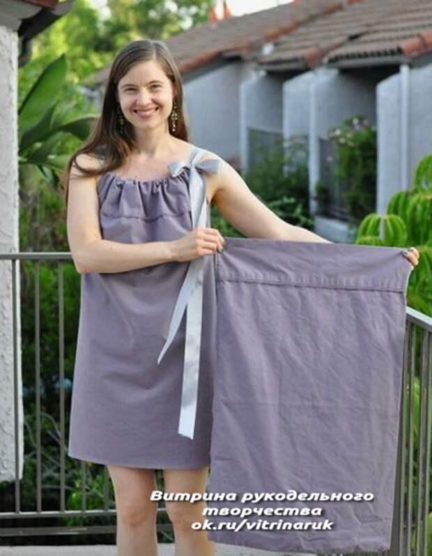 Простой летний наряд из куска ткани. Шить легко и быстро!