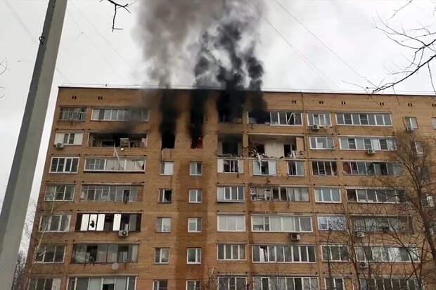 Взрыв произошёл в квартире девятиэтажки в подмосковных Химках