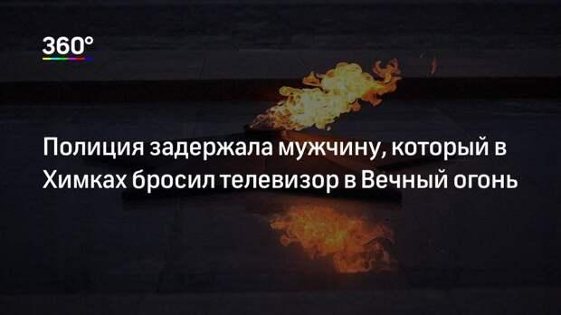 Полиция задержала мужчину, который в Химках бросил телевизор в Вечный огонь