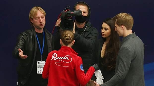 Плющенко: «Трусова стала больше раскрываться в плане хореографии, c Сашей работает педагог «Большого театра»