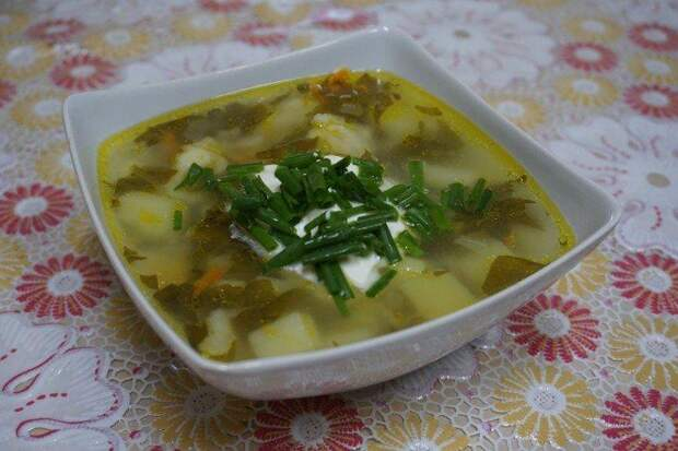Щавелевый суп с клецками