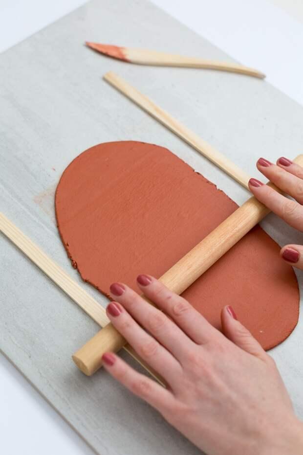 Кашпо из необожжённой глины своими руками