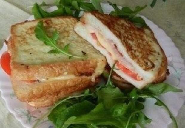 орячие бутерброды на завтрак