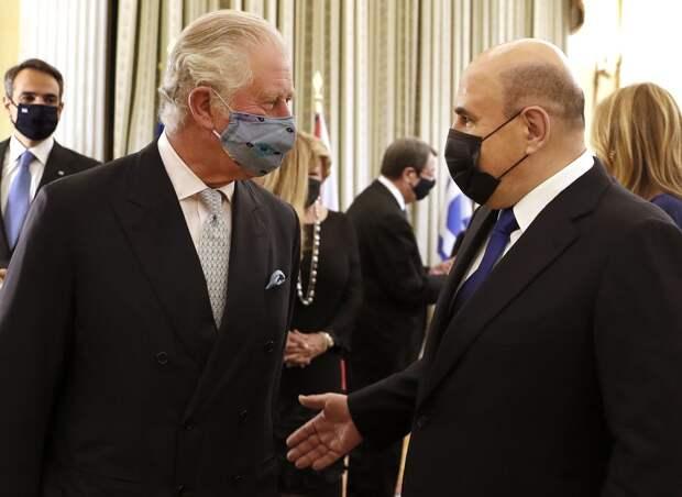 Мишустин пообщался с принцем Чарльзом во время визита в Грецию: видео