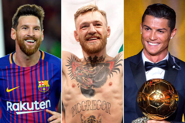 Forbes назвал Конора МакГрегора, Лионеля Месси и Криштиану Роналду самыми высокооплачиваемыми спортсменами в мире