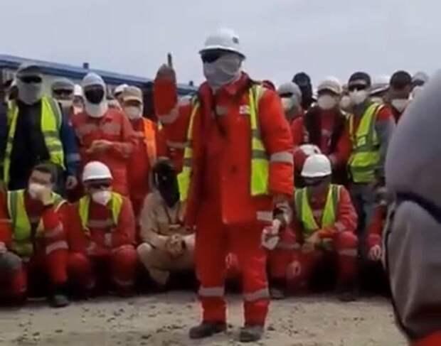 Рабочие на Тенгизе вышли на забастовку (видео)