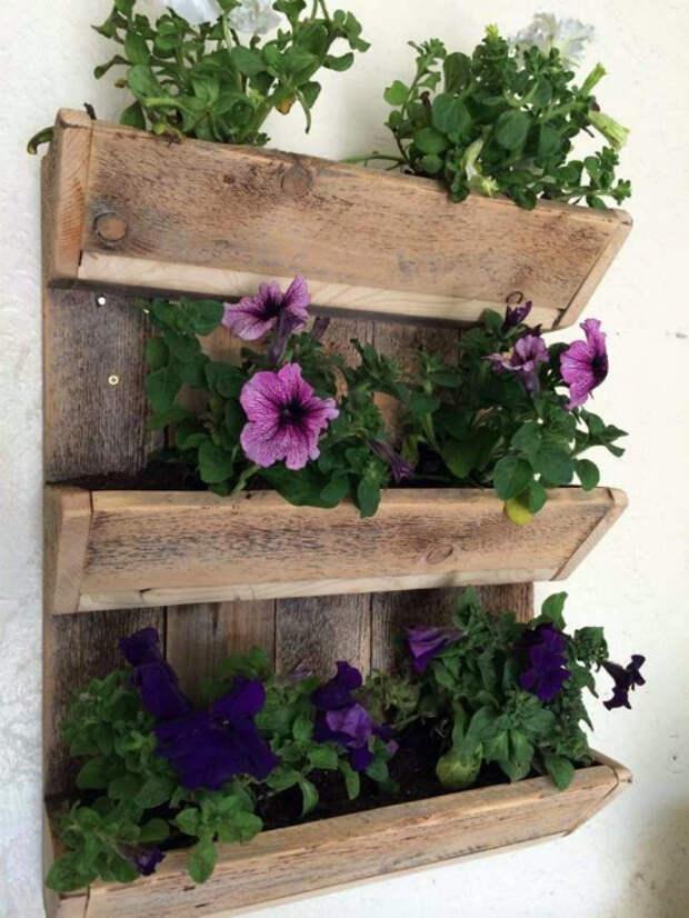 Подвесная цветочная клумба. | Фото: Pinterest.