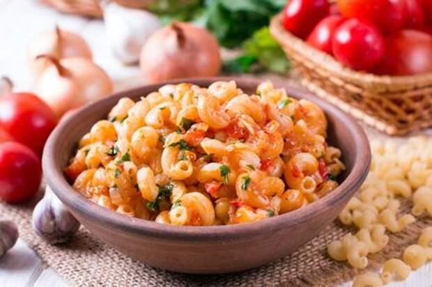 Макароны с помидорами и луком. Этап: 8