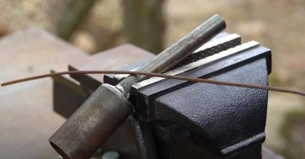 Как быстро выровнять стальную проволоку