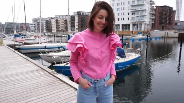 Блузка с воланами (видео)