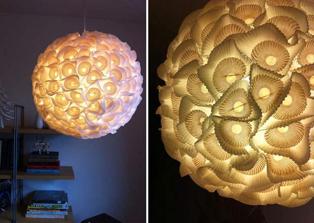 diylamps28 21 идея изготовления светильников и люстр из повседневных предметов
