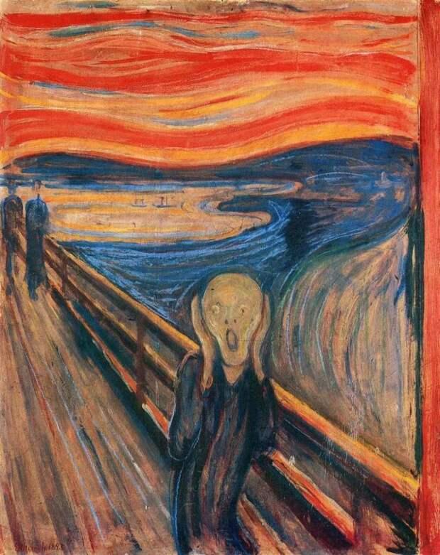 Знаменитый шедевр живописи «Крик» разрушается