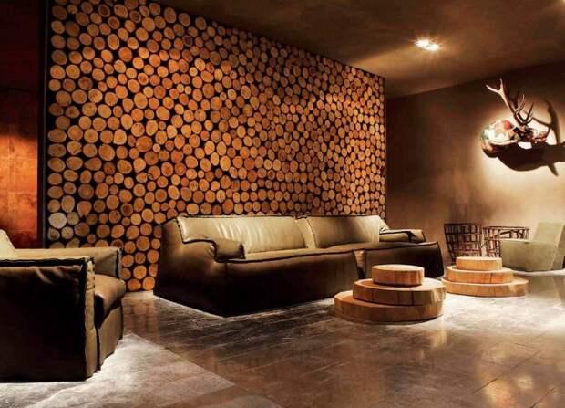 Декор из натурального дерева, который наполнит интерьер теплом и уютом.
