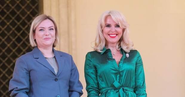 Пелагея, Красилов, Соловьев на церемонии вручения наград