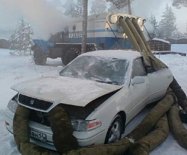 Что не стоит делать с машиной в мороз зима, мороз