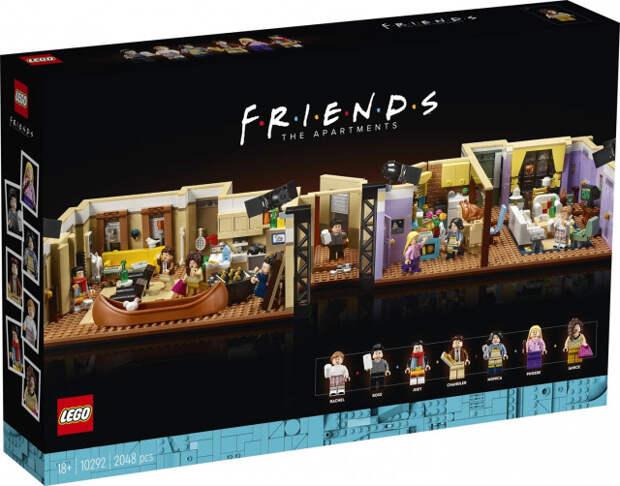 2048 деталей и две квартиры: LEGO выпускает набор по мотивам сериала «Друзья»