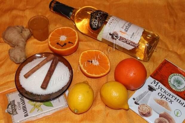 Ингредиенты для глинтвейна с белым вином