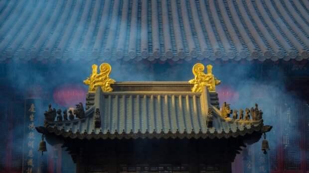 крыша дома в Китае