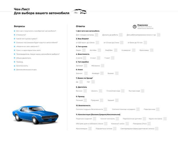 «Как выбрать свой автомобиль».