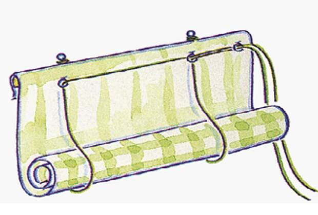 Подделки для дома своими руками. Рулонные шторы.
