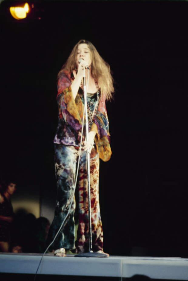 Дженис Джоплин на фестивале «Вудсток», 1969 год