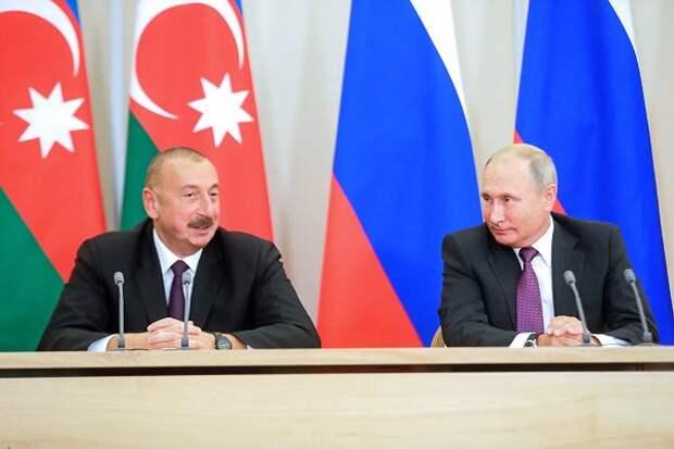 Путин иАлиев обсудили восстановление экономических связей вЗакавказье