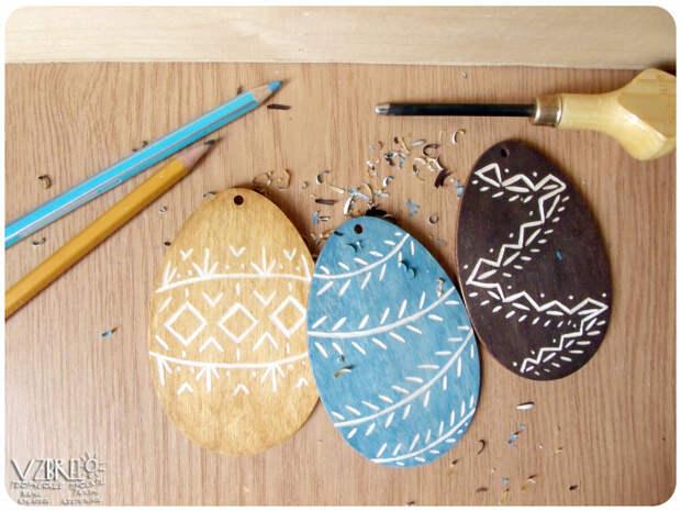 Оригинальные пасхальные сувениры с элементами резьбы, мастер-класс