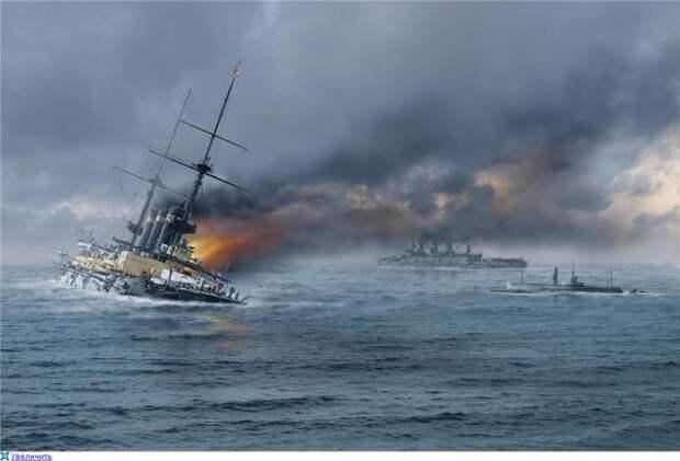 15 мая 1904 года минзаг «Амур» потопил японские броненосцы «Хацусэ» и «Ясима»